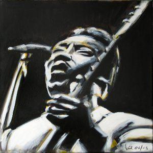 Blues 40 x 40 cm . Acryl/Canvas . CHF 800.-