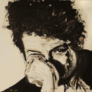 Bob 80 x 80 cm . Acryl/Canvas . CHF 2200.-