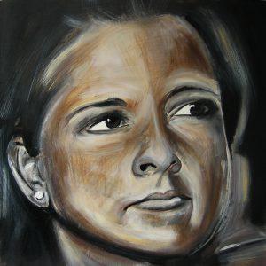 Amber 50 x 50 cm . Acryl/Canvas . CHF 800.-