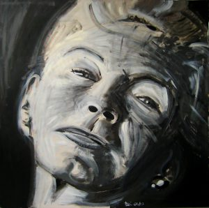 Betty 95 x 95 cm . Acryl/Canvas . sold