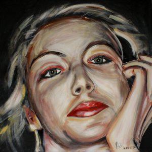 Brigitte 70 x 70 cm . Acryl/Canvas . sold
