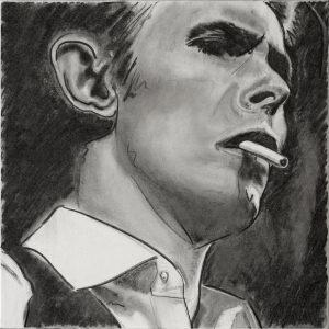 Bowie 50 x 50 cm . Coal/Canvas . CHF 1000.-