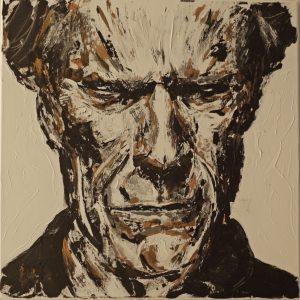 Clint Eastwood 60 x 60 cm . Acryl/Canvas . reserved