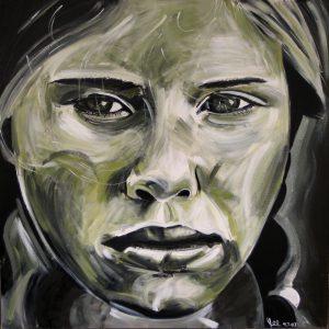 Imke 105 x 105 cm . Acryl/Canvas . sold