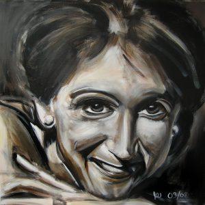 Rosie 100 x 100 cm . Acryl/Canvas . sold